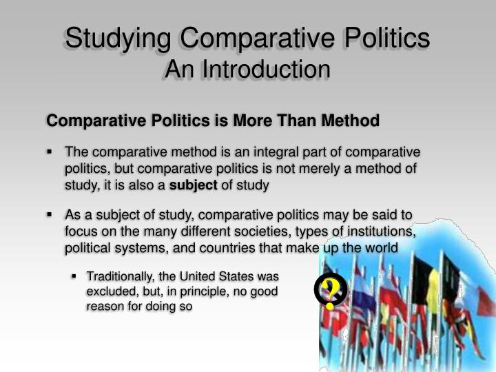 Studying comparative politics an introduction3