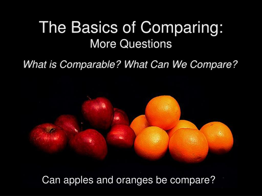 The Basics of Comparing:
