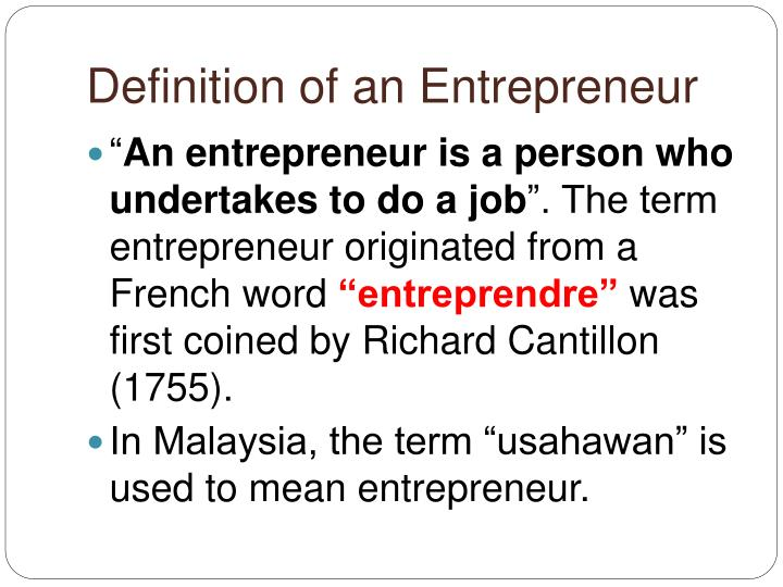 entrepreneur meaning