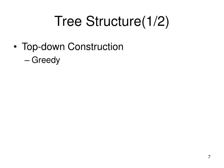 Tree Structure(1/2)