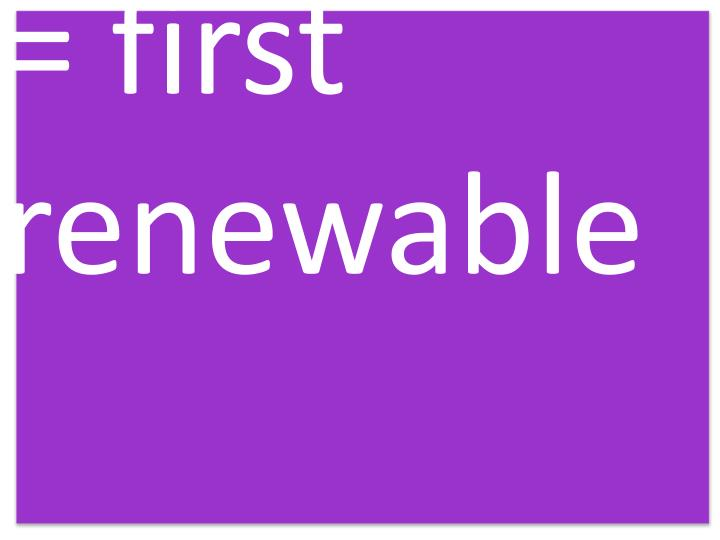 = first renewable
