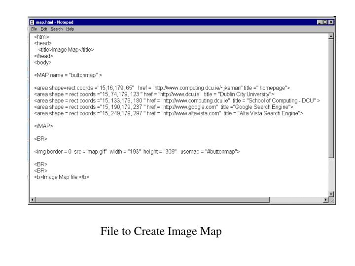 File to Create Image Map
