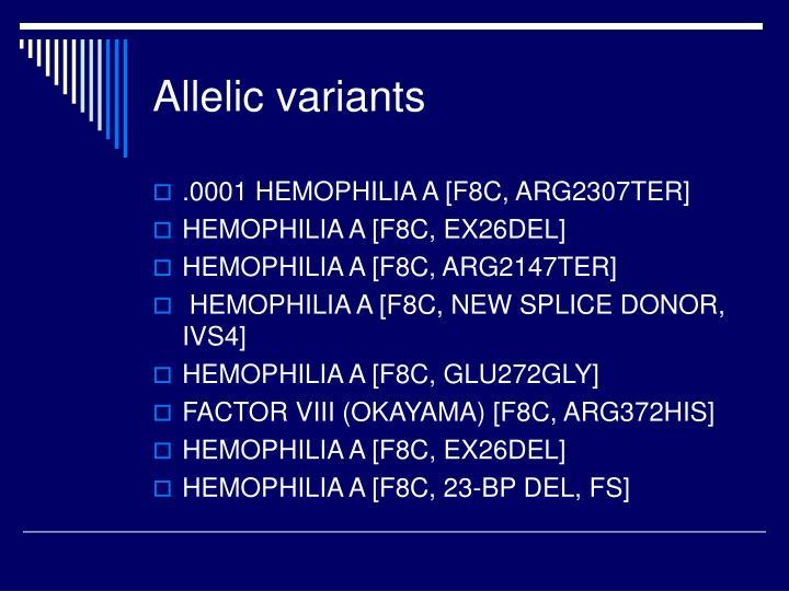 Allelic variants