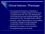 clinical features phenotype