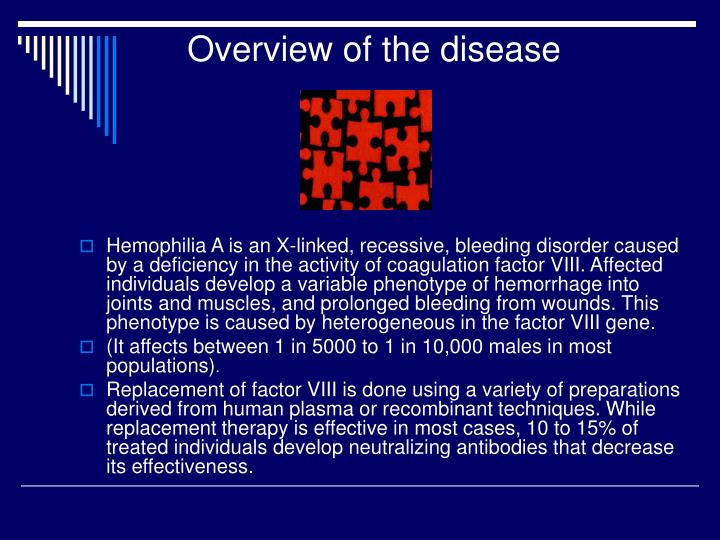 Overview of the disease