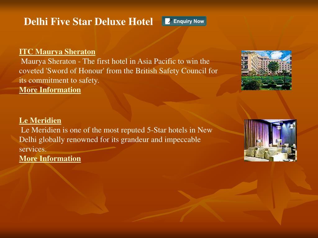 Delhi Five Star Deluxe Hotel