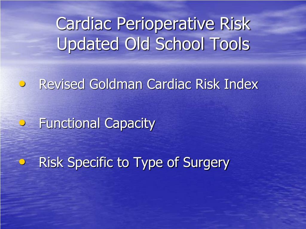 Cardiac Perioperative Risk