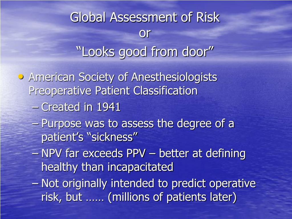 Global Assessment of Risk
