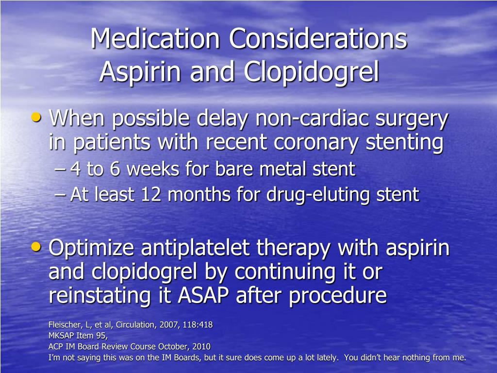 Medication Considerations