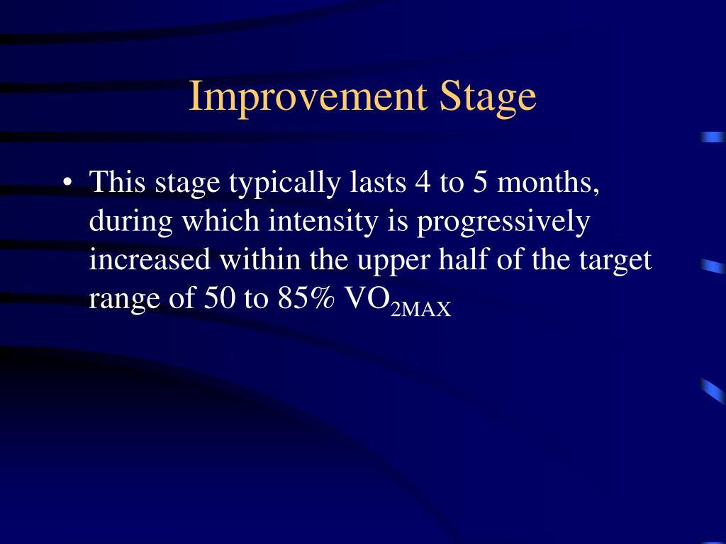 Improvement Stage