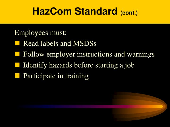 HazCom Standard