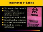 importance of labels