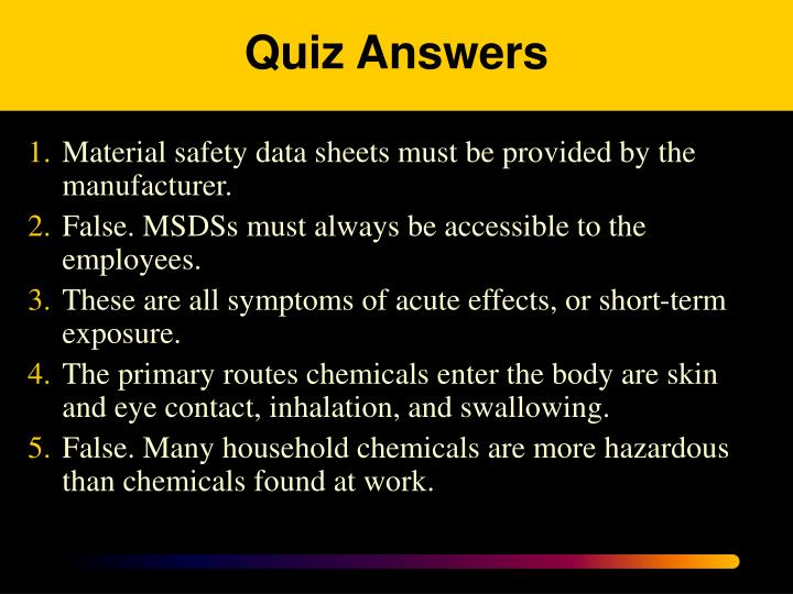 Quiz Answers