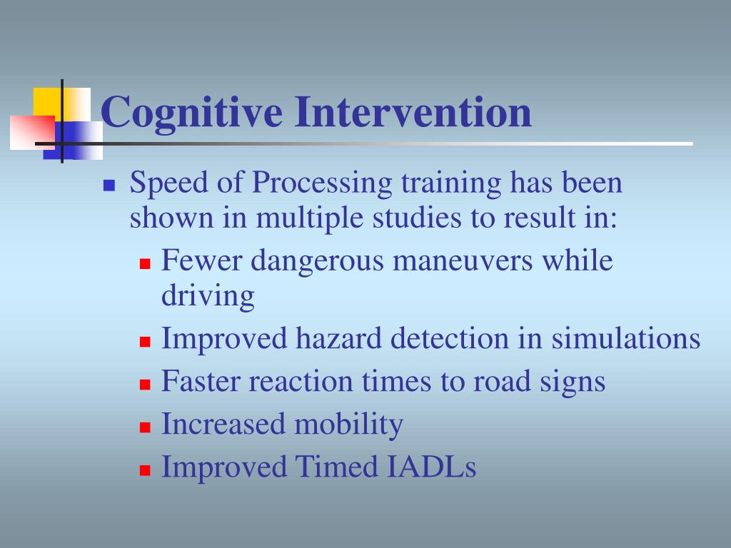 Cognitive Intervention
