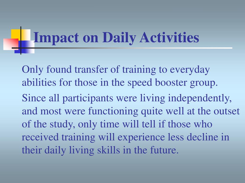 Impact on Daily Activities