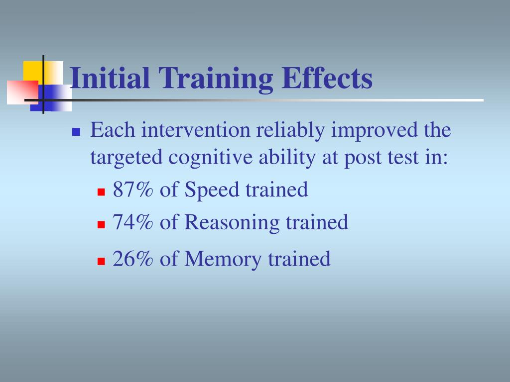 Initial Training Effects