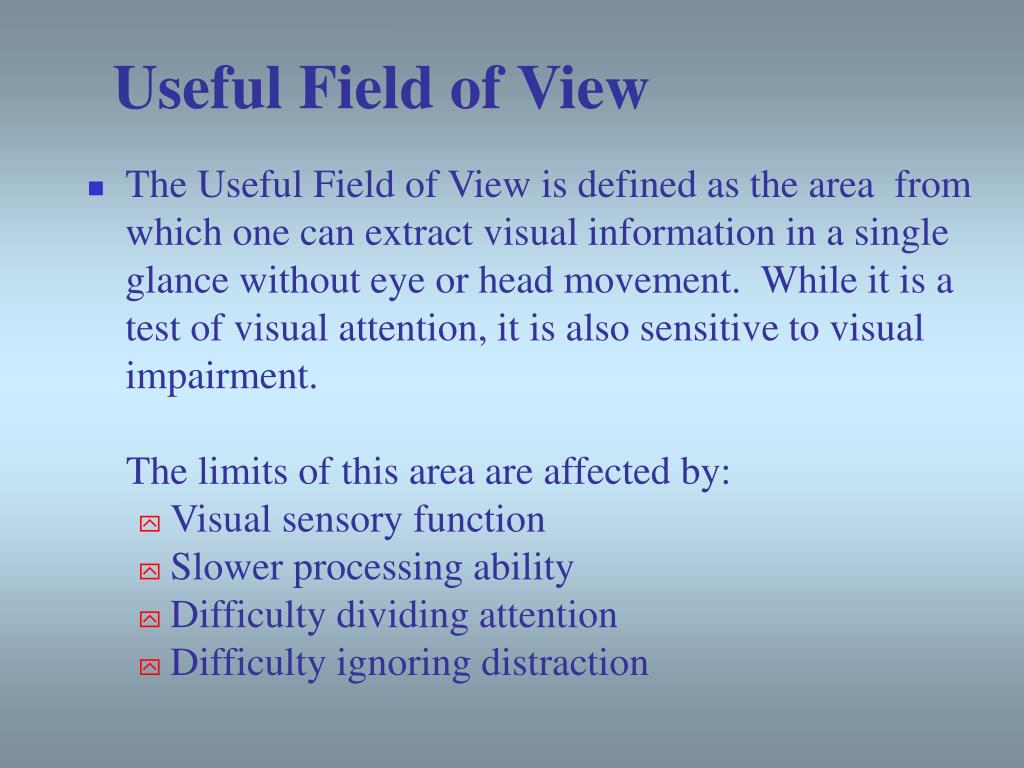 Useful Field of View