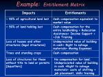 example entitlement matrix