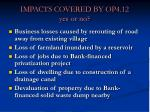impacts covered by op4 12 yes or no