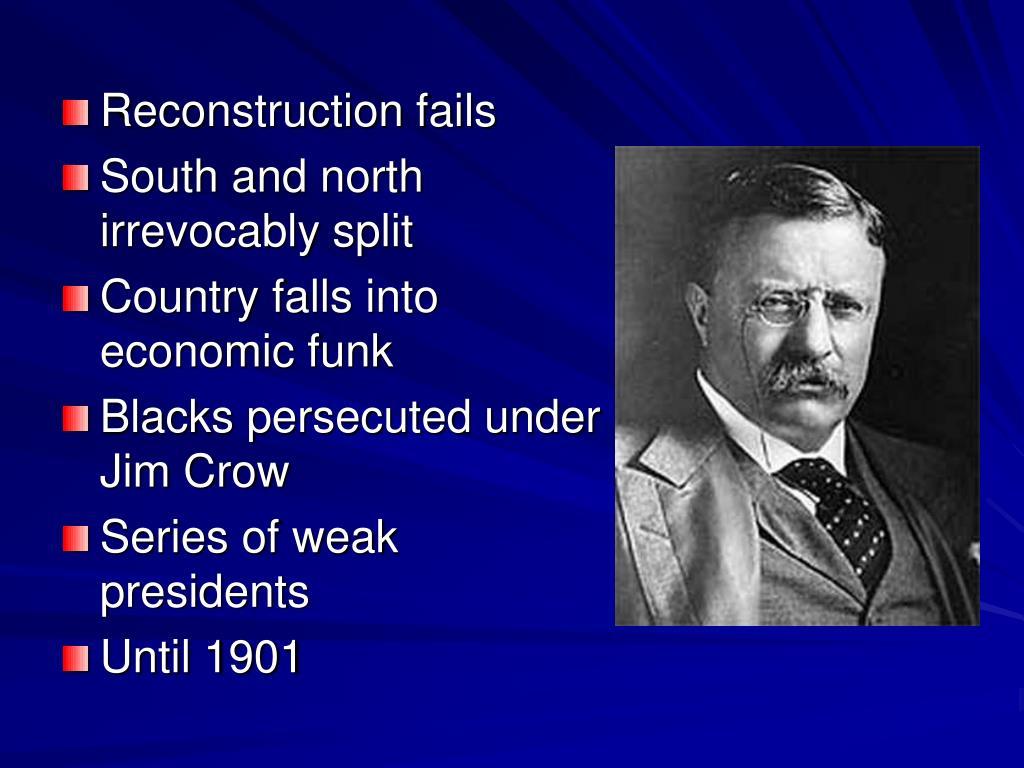 Reconstruction fails