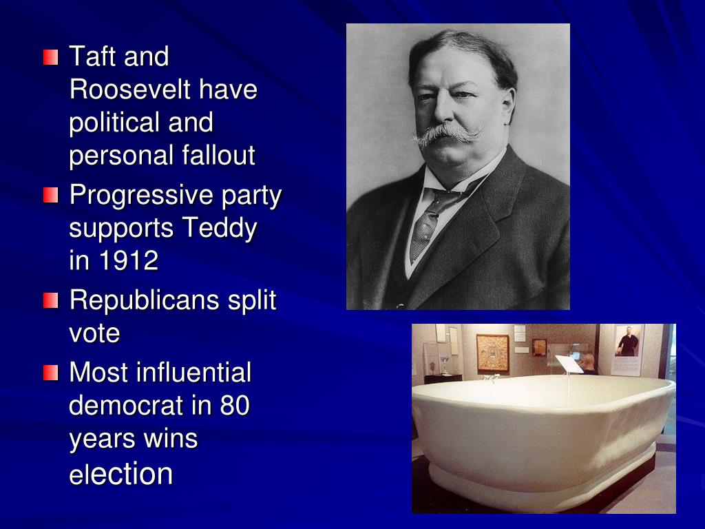 Taft and Roosevelt have political and personal fallout