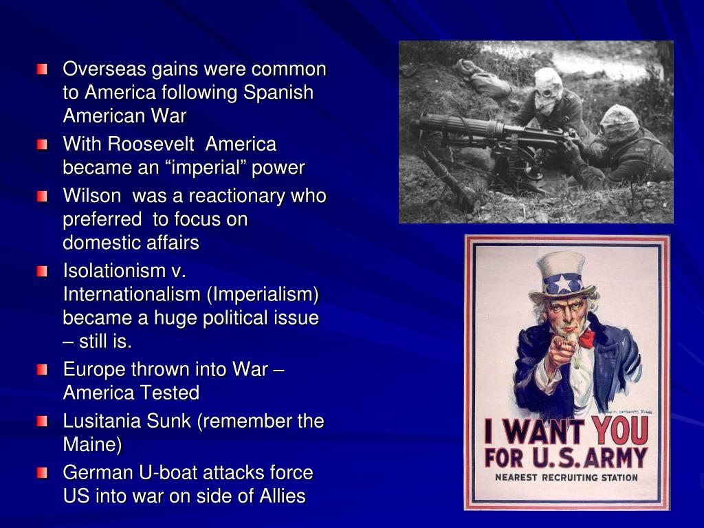 Overseas gains were common to America following Spanish American War