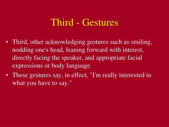 Third - Gestures