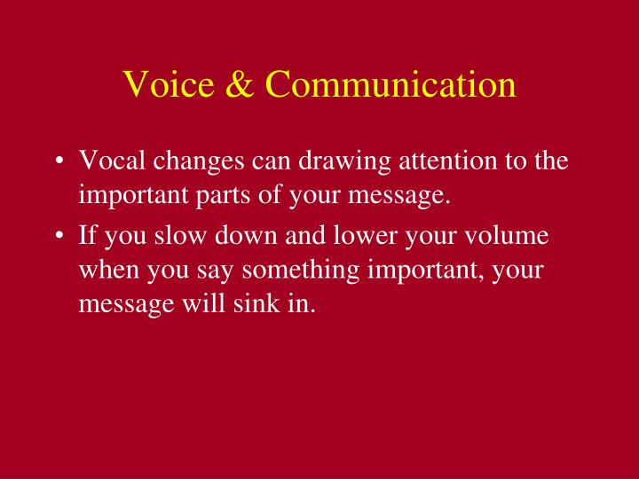 Voice & Communication