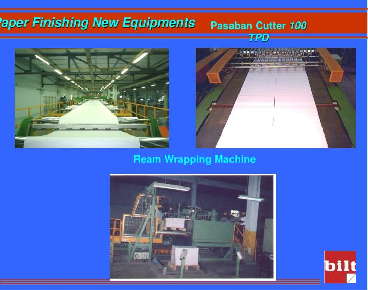 Paper Finishing New Equipments