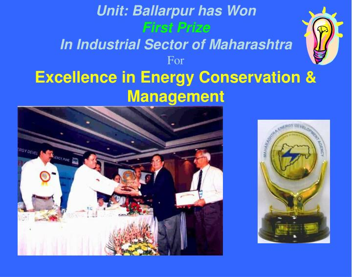Unit: Ballarpur has Won