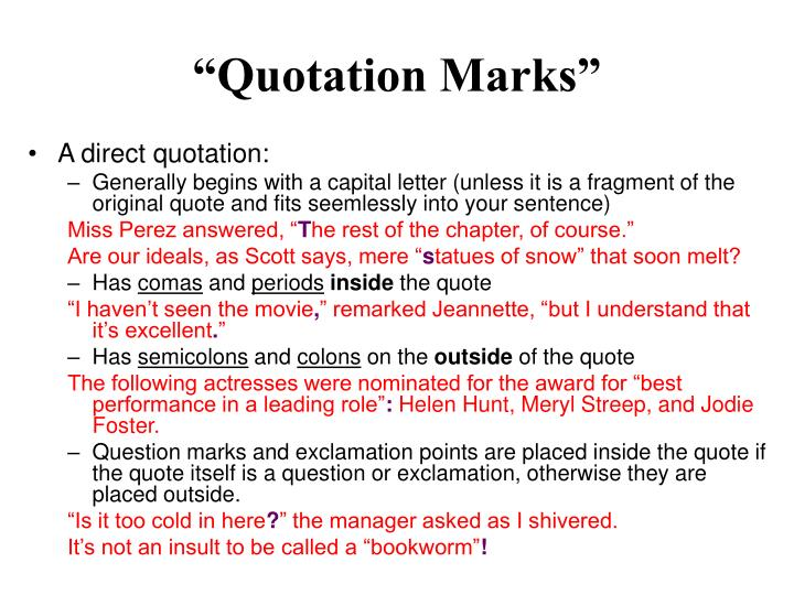 """Quotation Marks"""