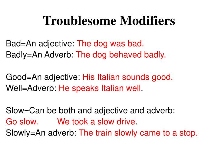 Troublesome Modifiers