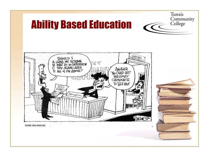 Ability Based Education