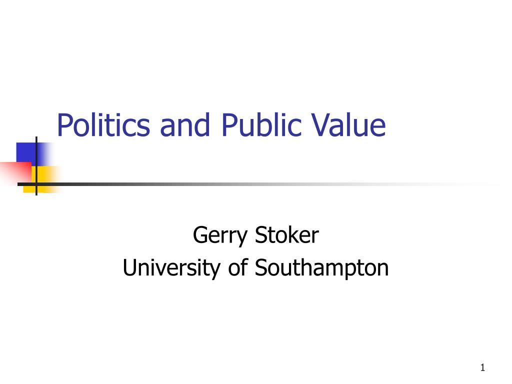Politics and Public Value