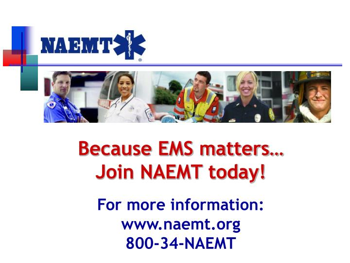 Because EMS matters…