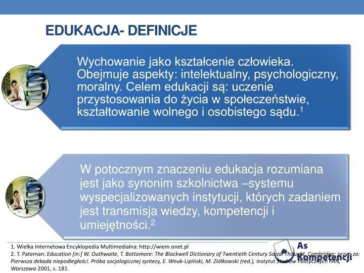 edukacja- definicje