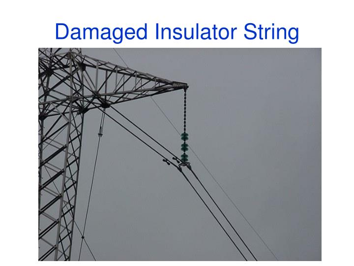 Damaged Insulator String