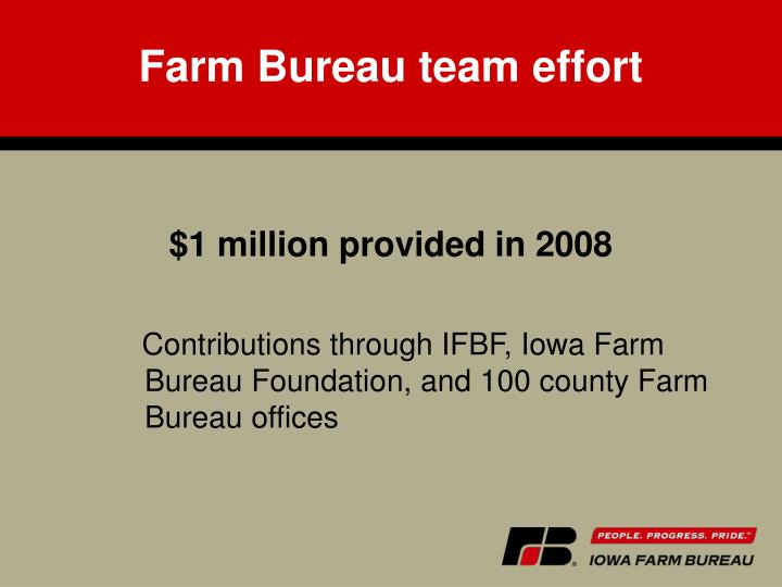 Farm Bureau team effort