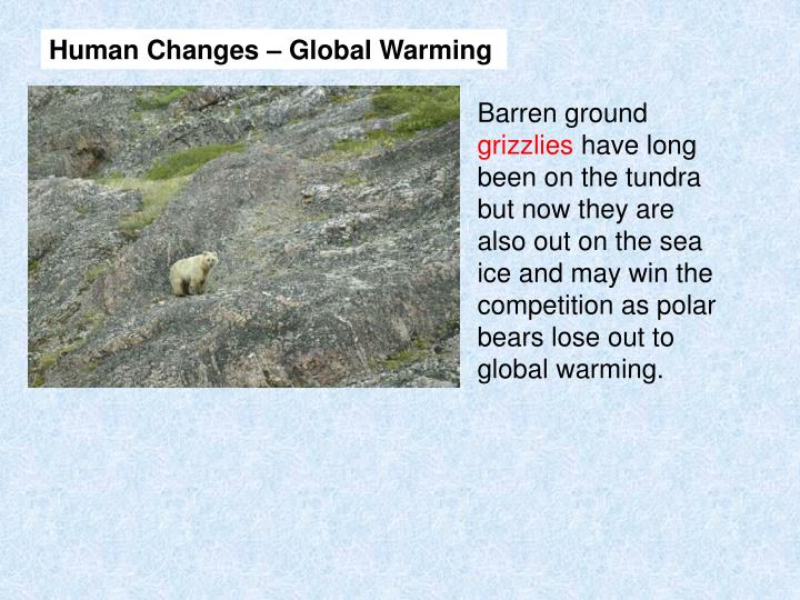 Human Changes – Global Warming