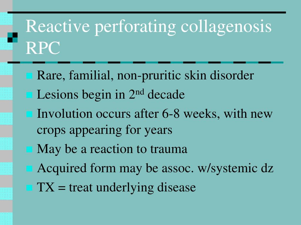Reactive perforating collagenosis