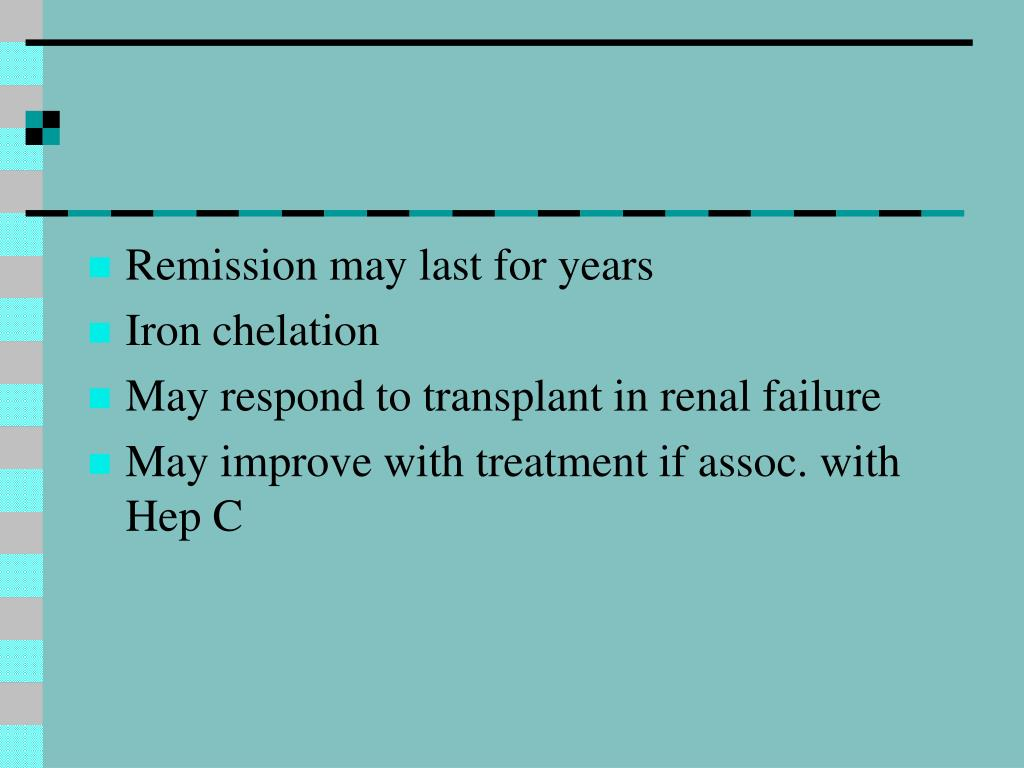 Remission may last for years