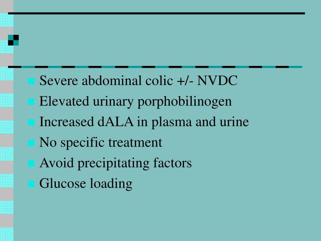 Severe abdominal colic +/- NVDC