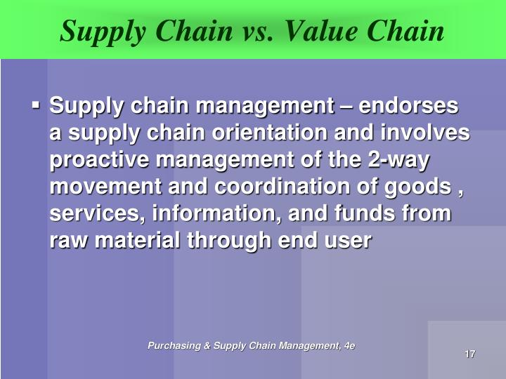 value chain v supply chain Now the new supply chain models are based on pull distribution which is based on accurate customer demands and proper feedback methods there is high scope to receive review and feedback from customers and change the product type/design accordingly.
