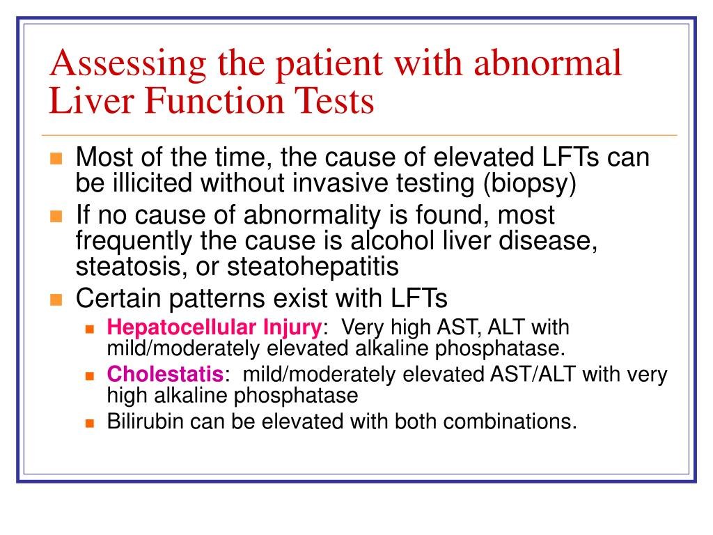 Assessing the patient with abnormal Liver Function Tests