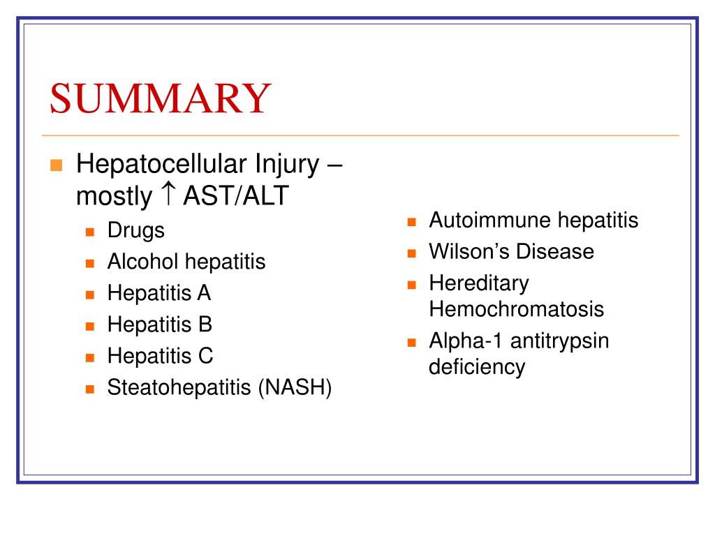 Hepatocellular Injury – mostly