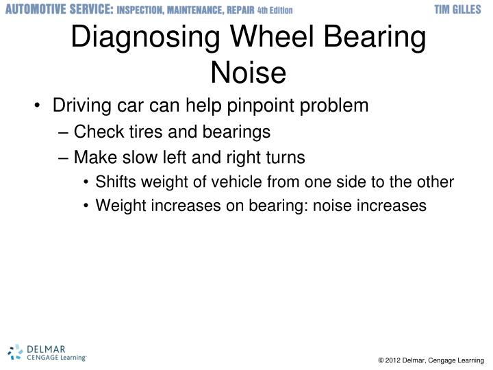 Diagnosing Wheel Bearing Noise