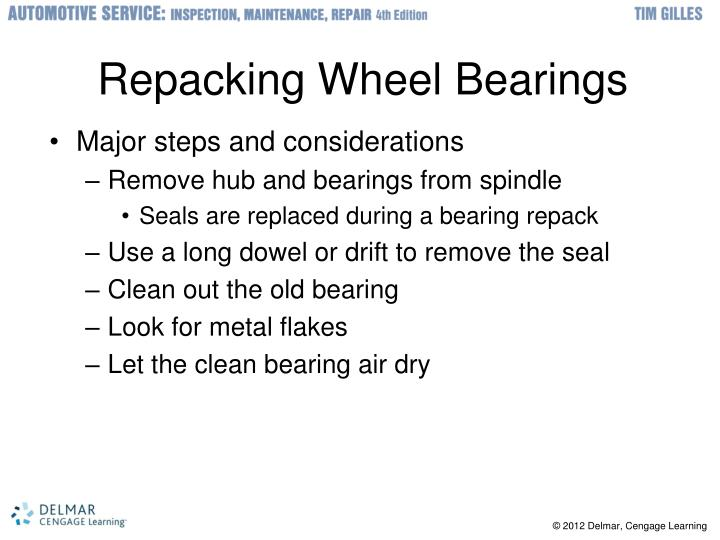 Repacking Wheel Bearings