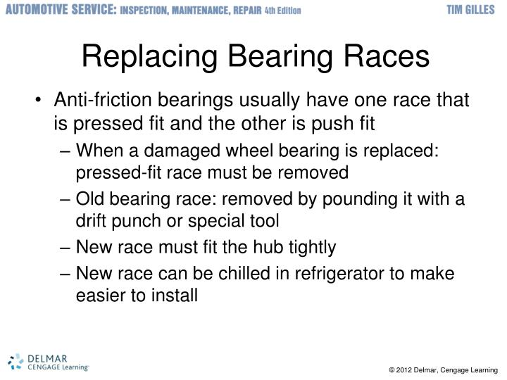 Replacing Bearing Races