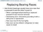 replacing bearing races