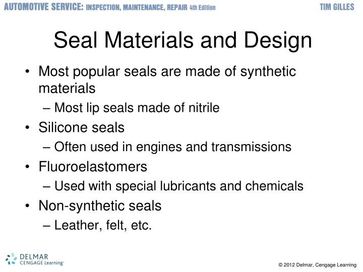 Seal Materials and Design
